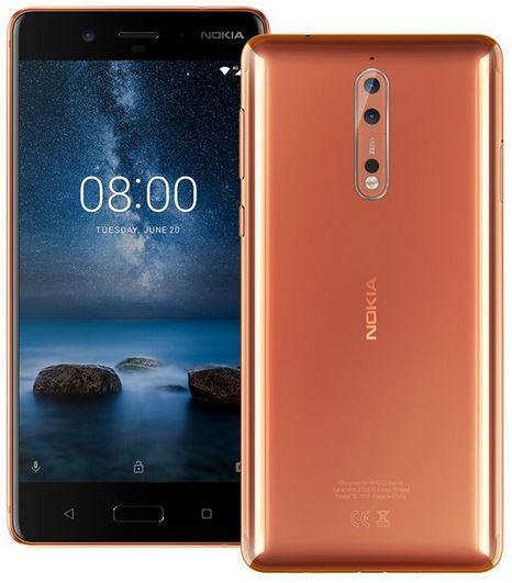 Nokia 8 Dual sim 4gb ram 64gb - Glossy Copper £233.99 - Toby Deals
