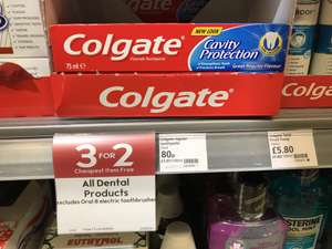 3x Colgate Cavity Protection toothpaste 75mL for £1.60 @ Waitrose online & in-store (£0.72/100mL)