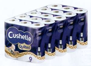 Cushelle Quilted 5 x 9 Packs (45) for £11.26 @ Costco (from 23/04)