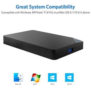 Inateck USB 3.0 to SATA Hard Drive Enclosure for 2.5 Inch SATA HDDs/SSDs for £9.10 prime /  £13.08 non prime Sold by Inateck and Fulfilled by Amazon