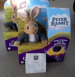 peter rabbit soft toy & egg now 60p at co op