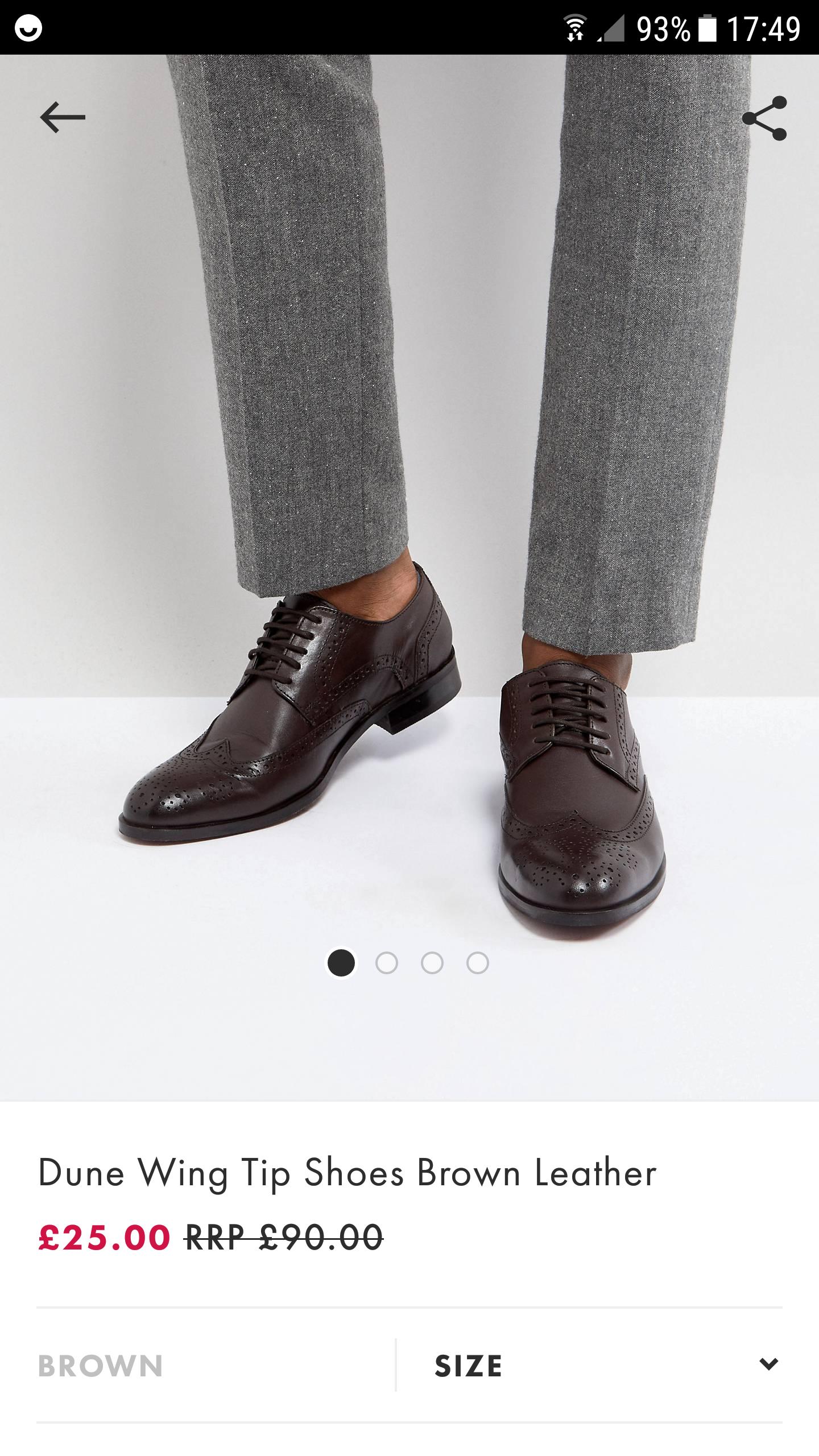 Dune shoes £25 @ ASOS