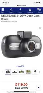 Nextbase 512gw dash cam £119 Plus Quidco 15% cash back. £101.15 - Currys