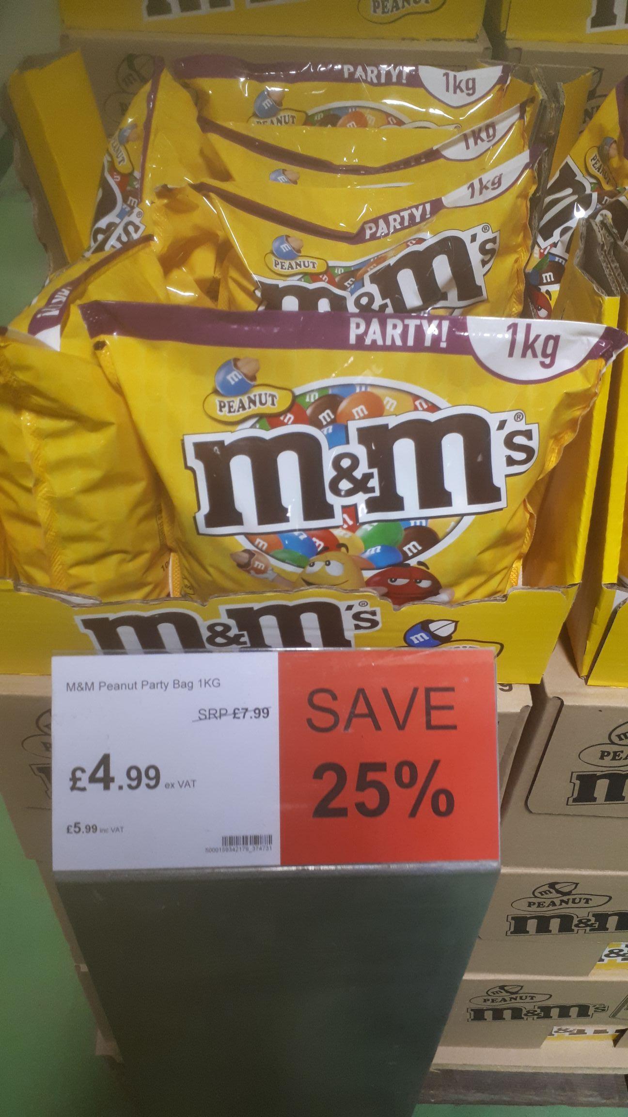 M+M peanut 1kg bag - £4.99 instore @ JTF