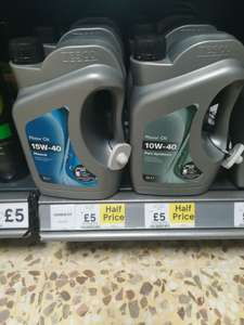 Half price Motor Oil 2L £5 at Tesco in store (Poole) - 15W-40 Mineral & 10W-40 Part Synthetic