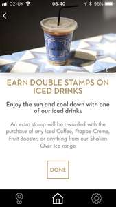 Double points @ Caffe Nero on iced drinks!