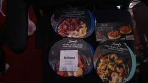 Iceland: Luxury frozen meals £1.25 (from £2.69). Desserts £1. RTC