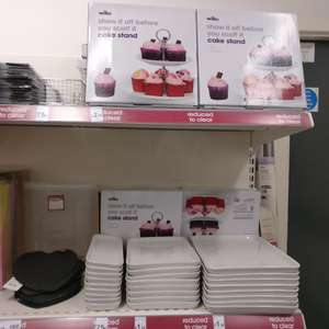 Wilko reduced cupcake stand / serving trays 75p instore