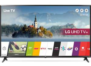 """LG 49UJ630V 49"""" 4K Ultra HD HDR Smart LED TV 3x HDMI (2017 Model) [Energy Class A] now £369 delivered @ Amazon"""