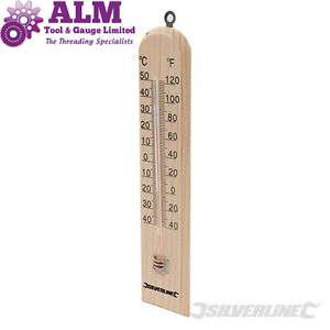 Wooden Thermometer at bargain value £2.30 at ebay /  almtoolandgauge