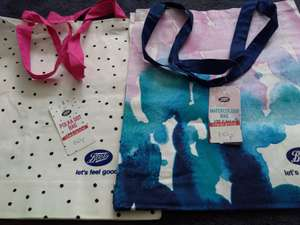 100% Cotton bags 10p in store at Boots