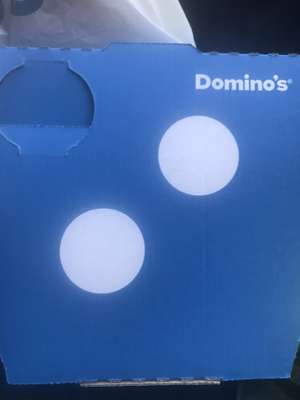 "Domino lunch time 7"" pizza £2"