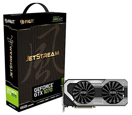 Palit GeForce NVIDIA GTX 1070 JetStream Series 8 GB GDDR5 Pci Express 3.0 Graphics Card - Black - £419.99 @ Amazon