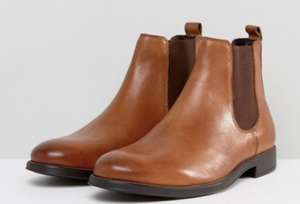 Dune Chelsea Boots In Tan Leather - £36 delivered @ ASOS