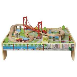 Save 33 - 50% on selected Carousel Toys at Tesco Direct eg Wooden Train Table was £60 now £30 - more in OP