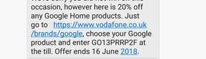 20% off google products via vodafone code