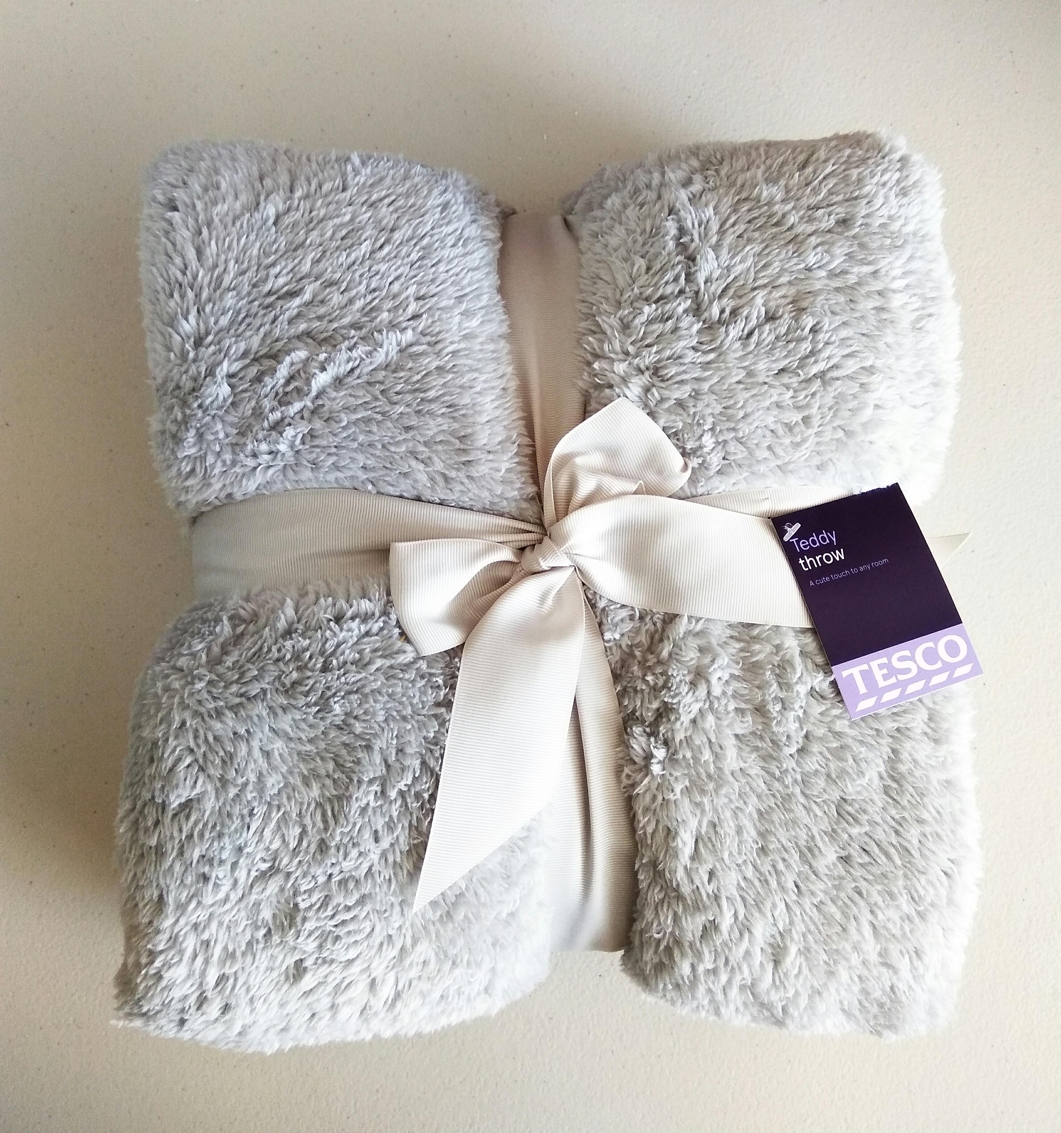 Teddy Throw/Blanket in-store - £1.50 @ Tesco (Old Trafford)