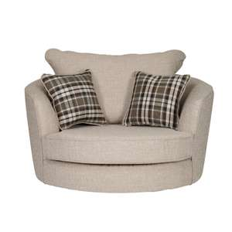 Wilcot Check Swivel Chair - Ebony £249 @ The Range