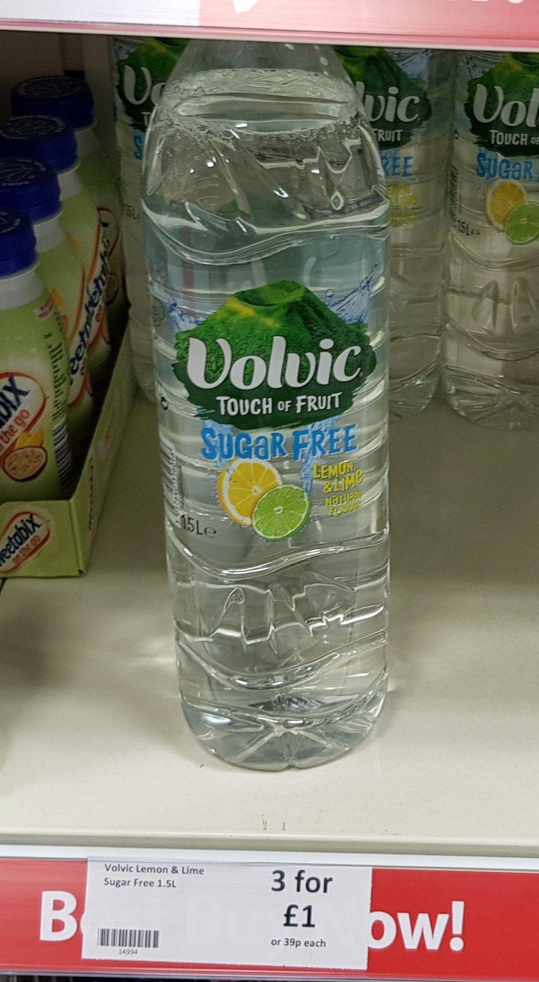 Volvic Sugar Free Lemon & Lime 1.5 litre 3 for £1 @ Heron