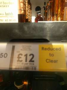 Old Forester Kentucky Bourbon Reduced to Clear in Tesco £12