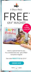 Free Snapfish photo magnet with code, just pay £3.99 Delivery