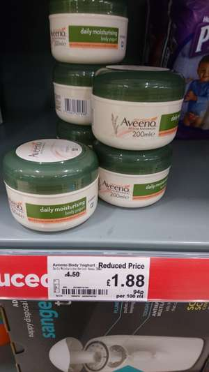 Aveeno body cream £1.88 instore @ Asda