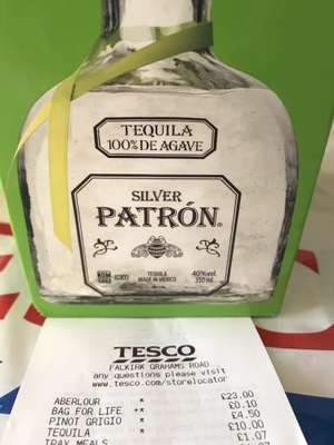 Patron Silver Tequila 35cl £10 instore @ Tesco