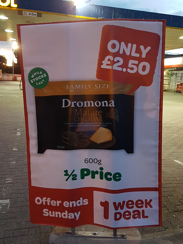 Dromona Mature Cheddar 600g  £2.50 @ Spar
