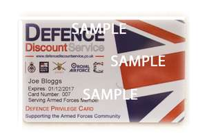 Discounts available for current or ex Military, ministry of defence Civil Servants and NHS