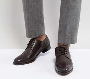 Dune Wing Tip Shoes Brown Leather £25 @ ASOS