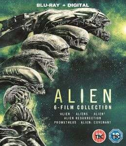 Alien 1-6 Blu Ray Collection + U.V £17.18 delivered with code @ Zavvi