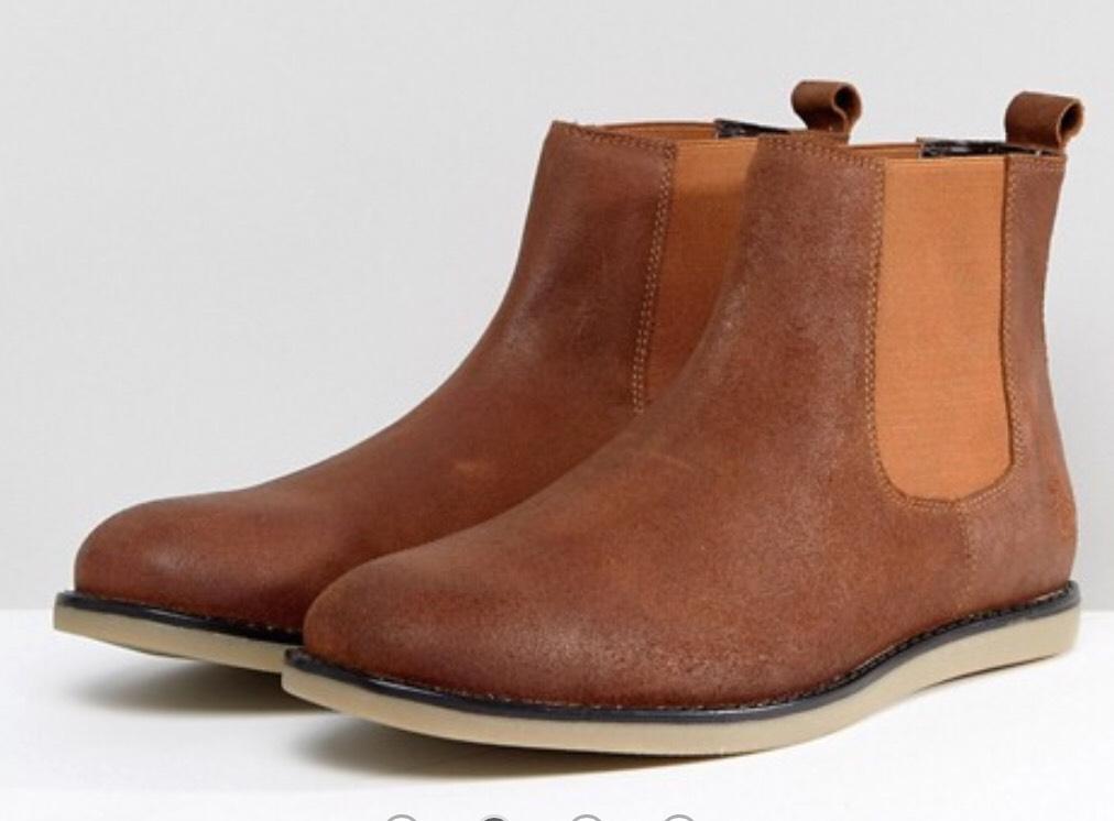 Penguin Chelsea Boots Brown (Size 10) £30 ASOS