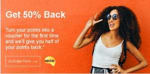 50% Nectar Points back on Nectar Points Spend on eBay - Please Check Details Within