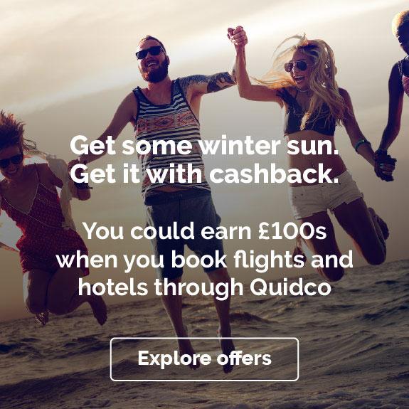 Quidco - Extra £25 Travel Bonus with £500+ spend