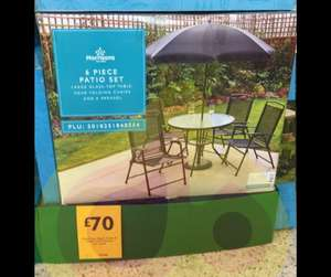 6 Piece Patio Set / Garden Furniture inc table, parasol & 4 chairs - in store £70 @ Morrisons