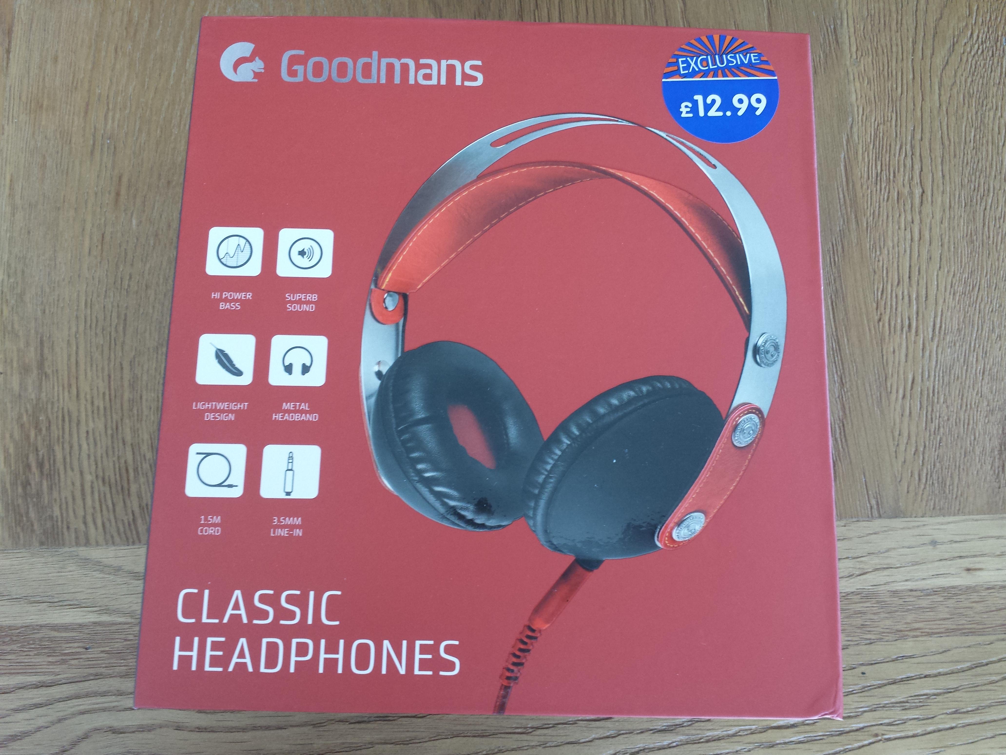 Goodmans Classic Headphones, £5 instore at B&M