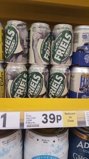Friels cider 39p a can instore blackpool tesco extra