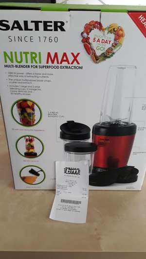 Salter Nutri max multi blender £15 in b&m bargains