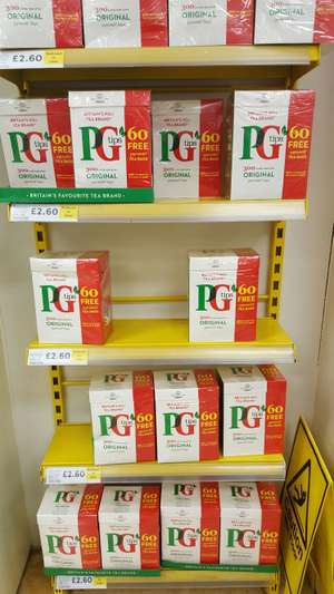 300 PG Tips Original Pyramid Tea Bags only £2.60 in-store @ Tesco, Bramley