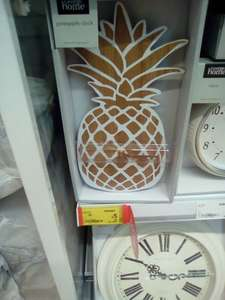 Pineapple shaped clock £5 instore and online @ Asda