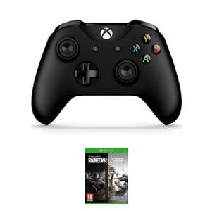 Xbox One Wireless Controller Black + Rainbow Six Siege Digital Download for £39.99 delivered @ Game