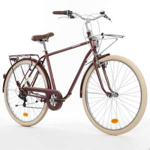 B'TWIN Elops 520 Classic Bike - Burgundy (Available size - L/XL, Colour - Chocolate truffle) for £159.99 (Reduced from £229) @ Decathlon