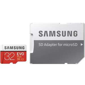 Samsung 32GB Evo Plus Micro SD Card (SDHC) UHS-I U1 + Adapter - 95MB/s £8.95 at MyMemory