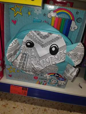 Colour your own backpack £1 @ B&M hunts cross