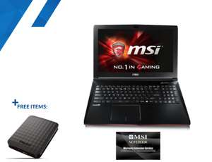 """GL62MVR 7RFX 1269UK - GTX 1060 3GB - 15.6"""" FHD IPS - I5 7300HQ - 8GB DDR4 -  256GB SSD + FREE PORTABLE 1TB HHD £869.99 / £880.49 delivered @ Overclockers"""