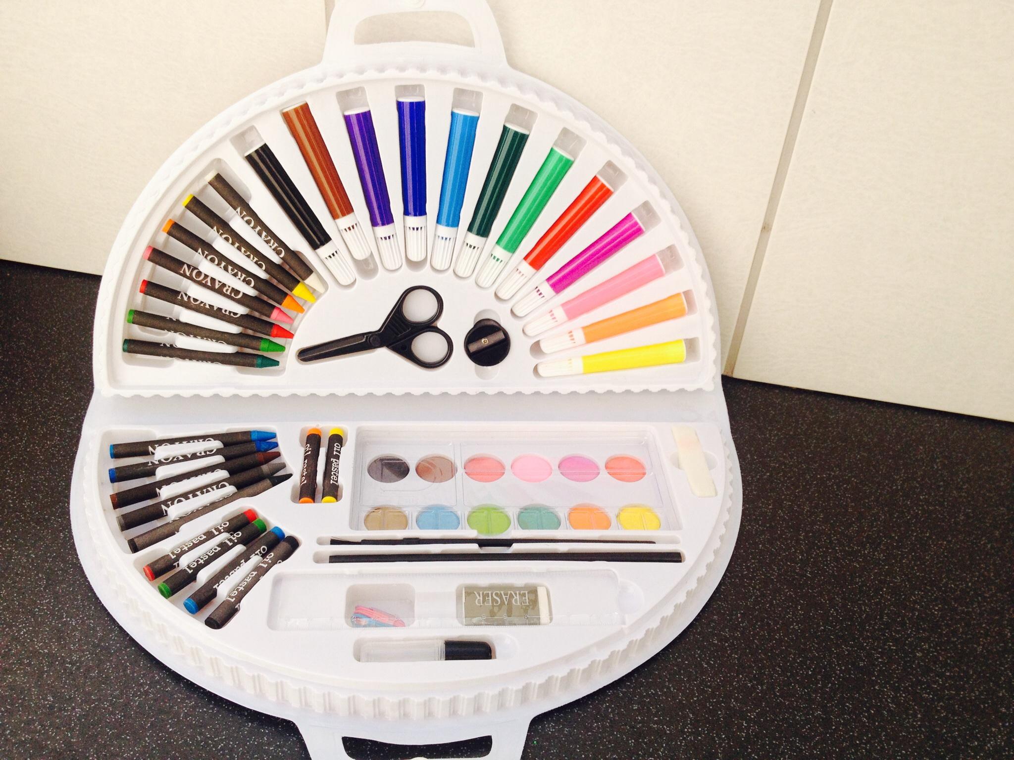 Sainsburys Rainbow Art Case 56pk 50p instore Pepperhill Northfleet