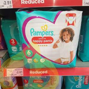 Pampers active fit Nappies £2.81 in asda - In Tesco these are £8