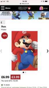 Super Mario poster £3.99  / £7.98 delivered @ EMP
