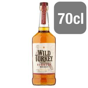 Wild Turkey Bourbon Whiskey 70Cl £16 @ Tesco online and instore