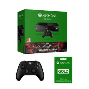 Xbox One 1TB + Additional Controller (2 total) + 12 Months Xbox Live + Gears Of War Ultimate Edition £216.44 (with code) @ Bargain Crazy